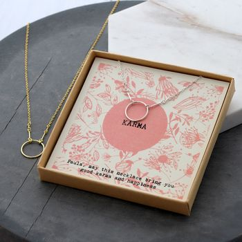 Personalised Good Karma Necklace