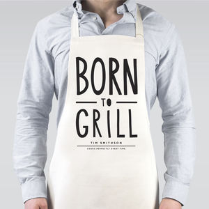 Born To Grill Apron