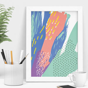Painted Abstract Art Print - modern & abstract