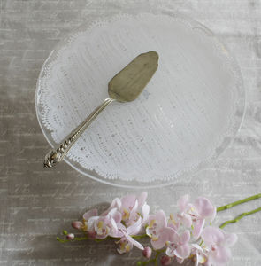Glass Lace Wedding Cake Stand - kitchen