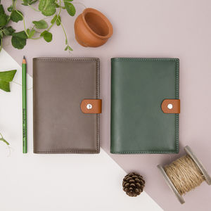 Personalised Leather Gardening Notebook - summer sale