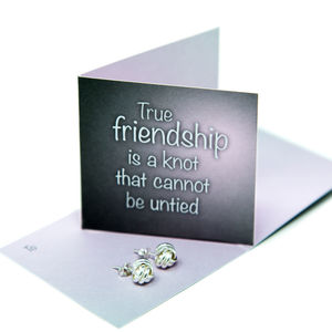 Friendship Knot Sterling Silver Earrings