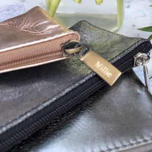 Metallic Leather Pencil Case With Personalisation - pencil cases