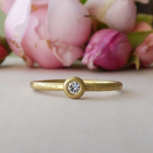 Lila 18ct Fairtrade Ethical Engagement Ring - unusual engagement rings