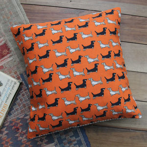 Dachshund Printed Cushion - patterned cushions