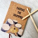 Personalised Playable Drummers Notebook