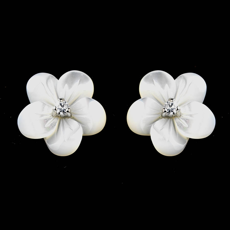 vintage on lady girl white jewelry hot in from wholesale pair jasmine sell accessories earrings flower studs leaves new brand drip stud designer item fashion ear elegant five