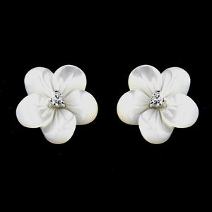 Daisy Mother Of Pearl Flower Stud Earrings By Debbie Carlisle Notonthehighstreet
