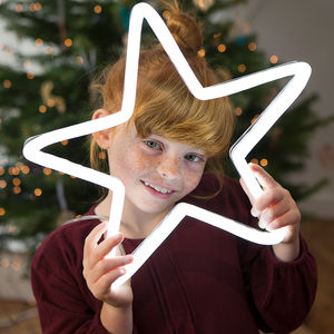 Neon Light Up LED Star Sign - home accessories