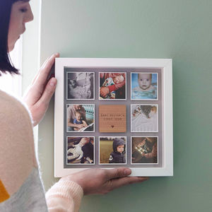 Personalised Framed Baby Photo Print - christening gifts