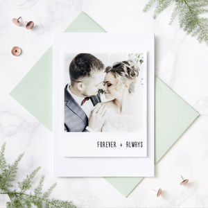 Personalised Polaroid Card - weddings