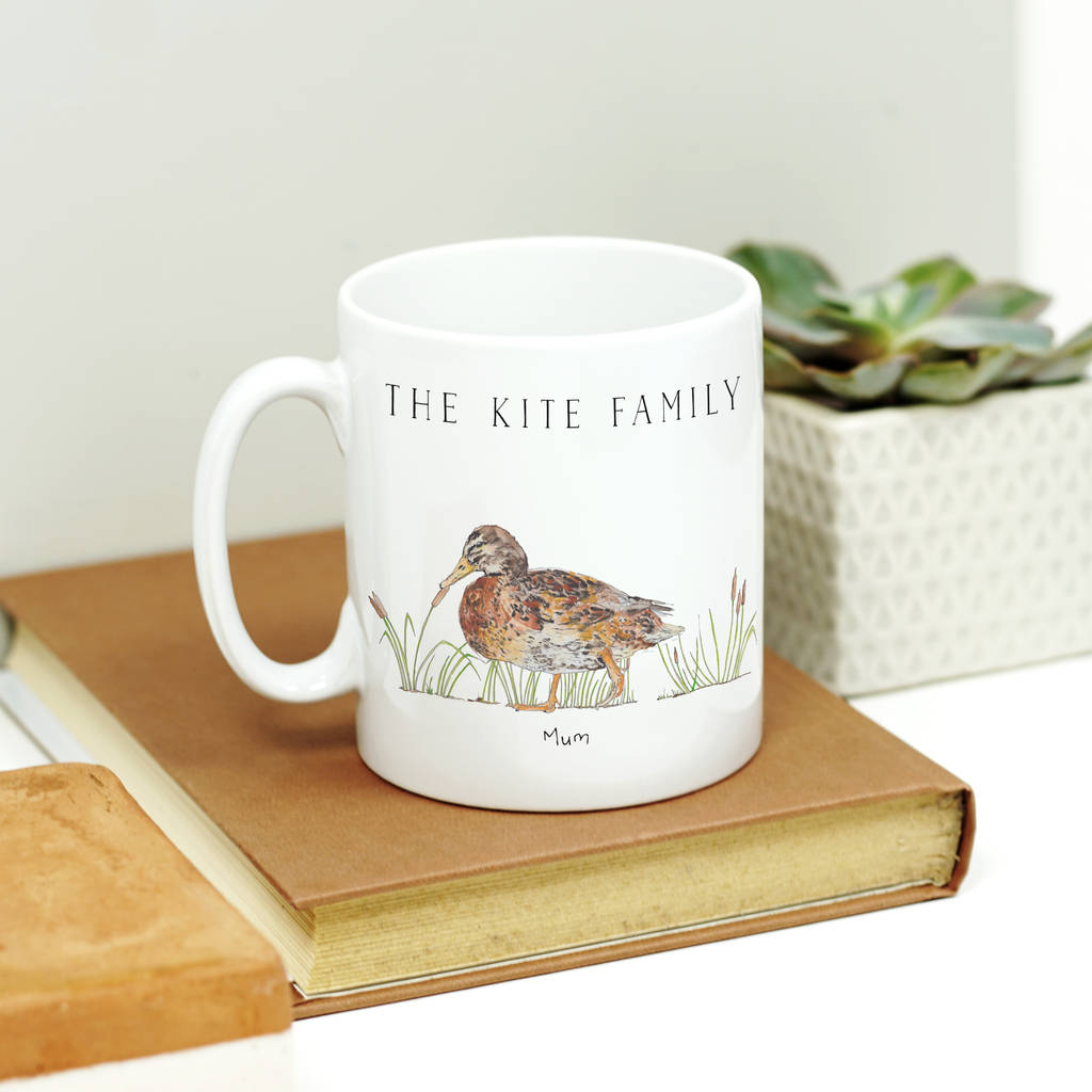 Personalised Set Of Duck Family Mugs