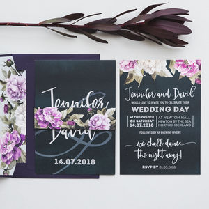 Peony Wedding Invitations - save the date cards