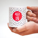 18th Birthday Spotty Personalised Mug