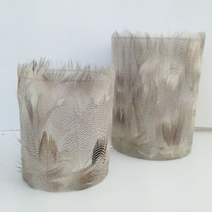 Pair Of Feather Tea Light Holders