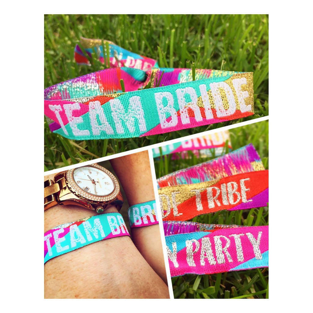 Team Bride Hen Bachelorette Party Bracelets
