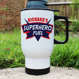 Dad's Superhero Fuel Travel Mug - flasks & waterbottles