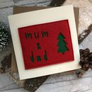 Felt Christmas Mum And Dad Card