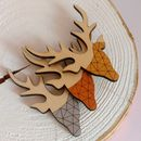 Geometric Stag Brooch