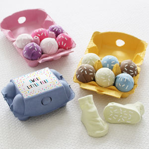 Sweet Little Feet Ice Cream Baby Socks Gift Set - new baby gifts