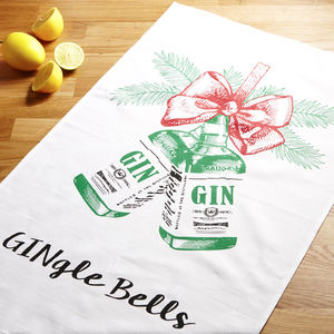 Christmas Gin Tea Towel