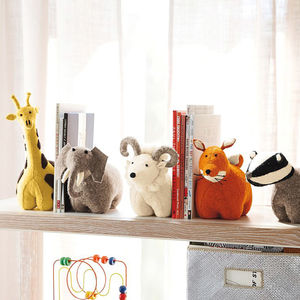 Felt Animal Bookends - decorative accessories
