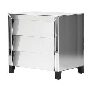 Angled Drawers Mirrored Chest Of Drawers