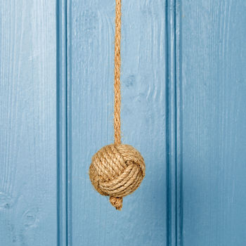 Natural Jute Rope Knot Bathroom Light Pull