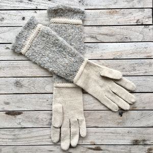 Alpaca Boucle Frost Long Gloves - gloves