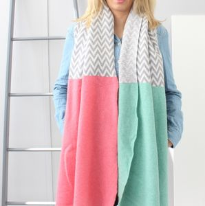 Pink Chevron Large Wrap - scarves