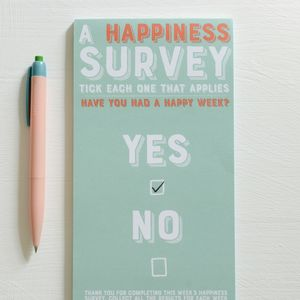 Happiness Survey Notepad