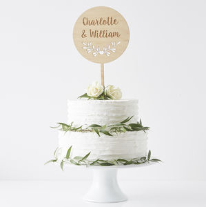 Decorative Circular Personalised Cake Topper - styling your day sale
