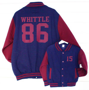 Personalised Parent And Child Varsity Jackets