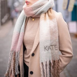 Personalised Pastel Check Scarf - gifts for her
