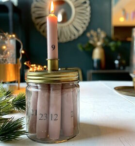 Personalised Family Advent Candle Set
