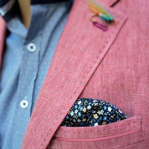 Florent Printed Pocket Square
