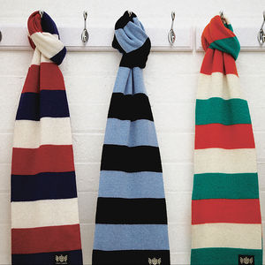 Luxury Cashmere Rugby Scarf In Various Team Colours - 60th birthday gifts