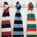 Luxury Cashmere Rugby Scarf In Various Team Colours