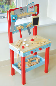 Wooden Little Carpenters Workbench
