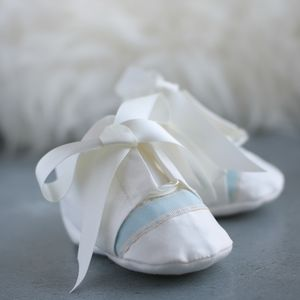 Boys James Christening Booties - shoes & footwear