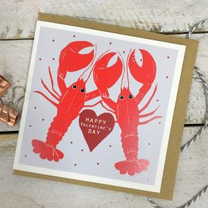 Valentine's Day Lobster Card