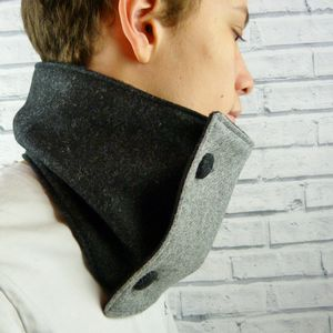 Colour Block Neckwarmer Scarf
