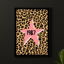 Star Leopard Personalised Year Print