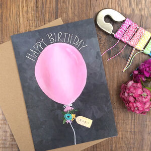 Happy Birthday Balloon Birthday Card