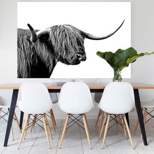Highlands Harry, Canvas Art - animals & wildlife