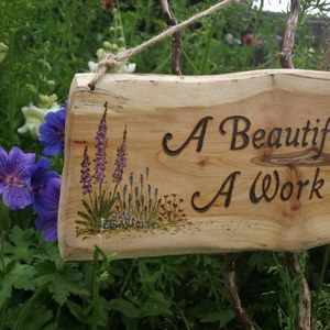 Personalised Hand Painted Garden Flower, Sign