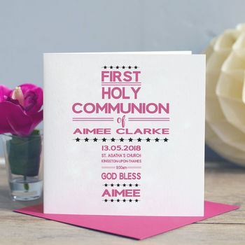 Holy Communion Word Art Card