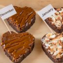 Two Gluten Free Brownies Hearts