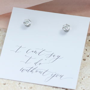 Classic Cubic Zirconia Stud Earrings - jewellery sale