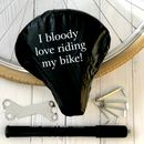 'Bloody Love Riding My Bike' Bike Seat Rain Cover
